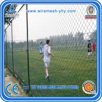 6ft pvc coating galvanized chain link fence YHY for the garden and sports field