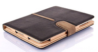 For ipad 2 3 4 suede smart leather case Card leather multifunction swivel bracket Holster for ipad air 5 6 cover