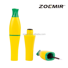 Cosmetic packaging banana yellow corn shape tube asian style eyeliner tube with high quality
