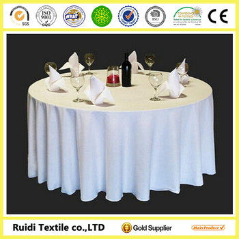 fashion style dining table cover double round polyester table cover hot sale table cover