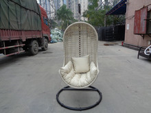 steel frame garden outdoor furniture, rattan wicker hanging chair for adult, swing chair