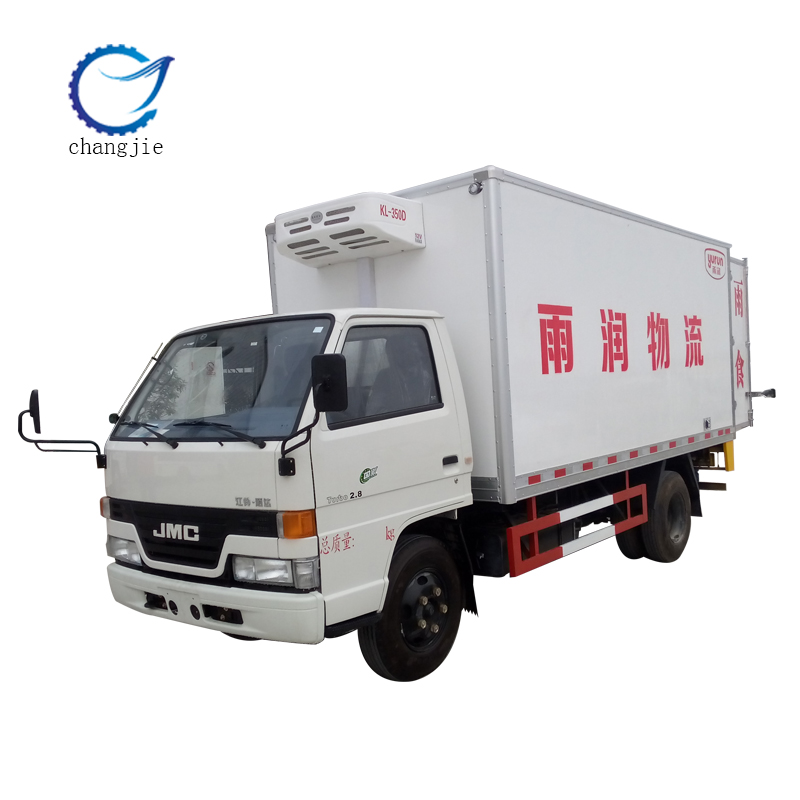 hot-selling JMC refrigerated mini van and freezer car for logistics dedicated made