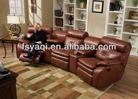 Modern design luxury recliner home theater sofa chair 602-2