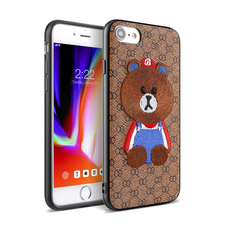 Creative Design Embroidery Leather Cover Case For Smart Phone