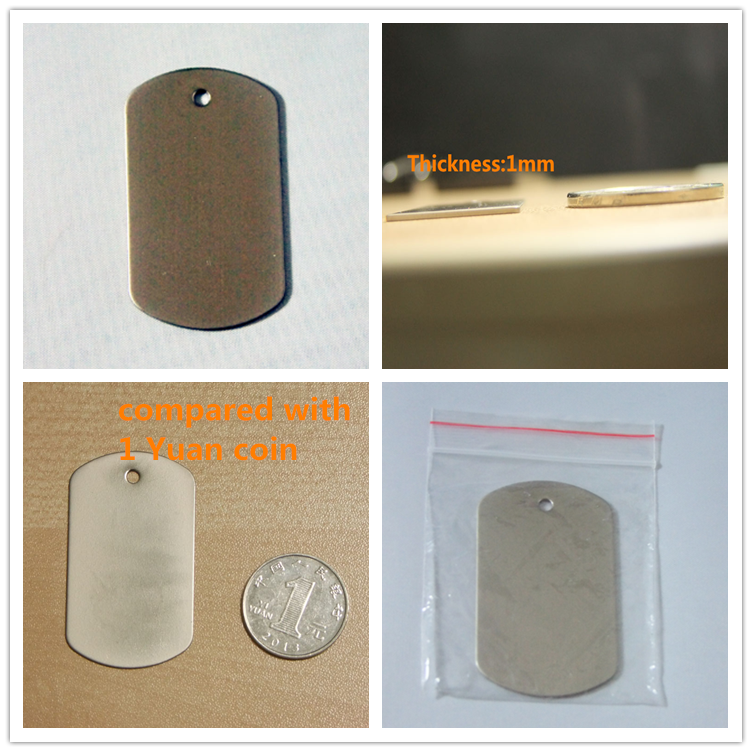 Sublimatie blanks dog tags M01 sublimatie metalen dog tag Sublimatie Hanger DIY Hanger