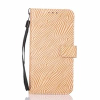 zebra-stripe stand flip Case For Galaxy S6 leather waller case Cover