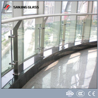 Tempered indoor glass railing