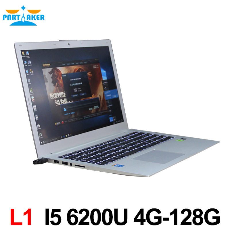 Newest Core i5 6200U CPU Ultrabook with backlit 4GB Ram 128GB SSD Webcam Wifi Bluetooth HD Win 10 <strong>laptop</strong> with GT940M 2G