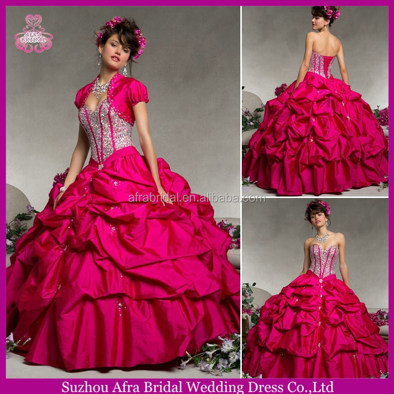 QQ443 ball gown prom dress taffeta quinceanera supplies wholesale summer quinceanera dresses