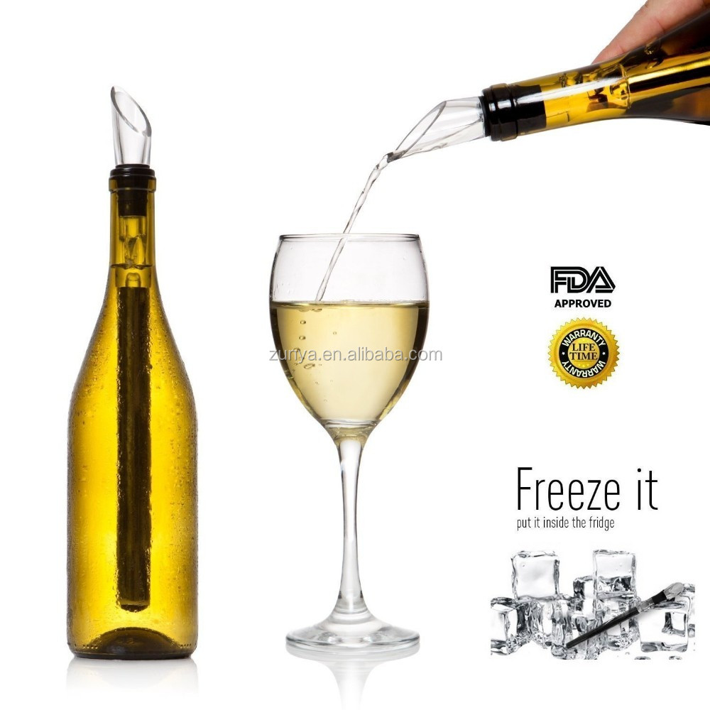 Iceless Wine Chilling Stick, Stainless Steel Wine Chiller, 3 in 1 Wine Chiller Rod With Wine Aerator And Wine Pourer