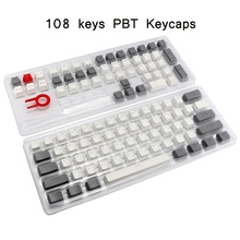 104/108 Keycap PBT Standard Layout Thick Double Shot Key Cap For Cherry MX Mechanical Keyboard Gaming Keyboard Keycap for Gamer