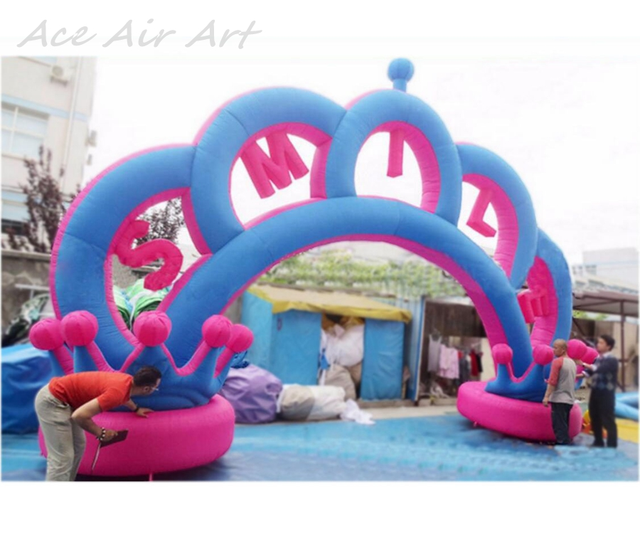 Giant Wedding decorations inflatable arch Outdoor Inflatable Crown Arch For Entrance on Lawn Wedding