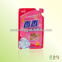 plastic stand up pouch for laundry liquid