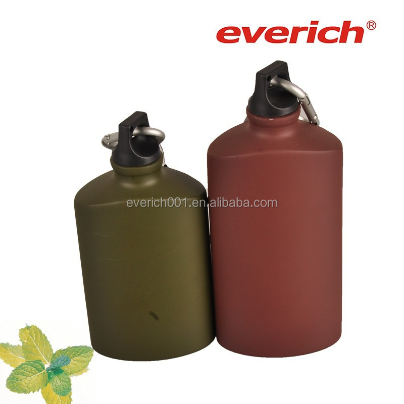Oval shape aluminum bottle with different capacity