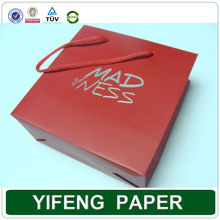 Alibaba Supplier wholesale promotional boutique logo printed foldable custom made cheap shopping paper bag with logo