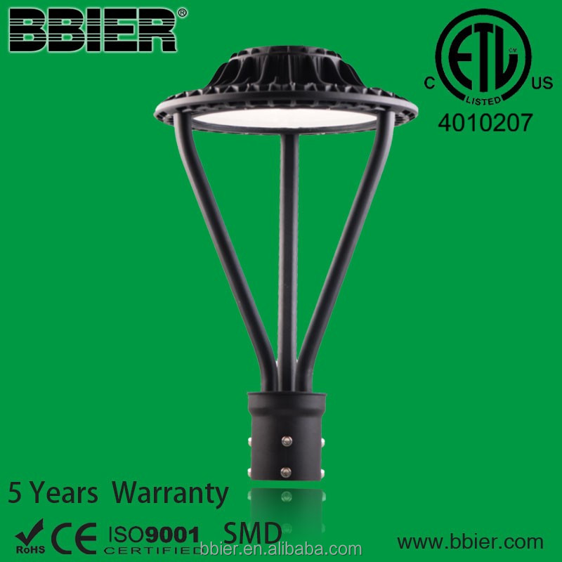 Bbier Modern ETL IP65 30W SMD3030 post top luminaires led road light