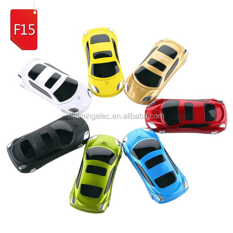 2015 Latest model!!! 1.8 inch Screen dual sim lovely Mini car shape Phone F15