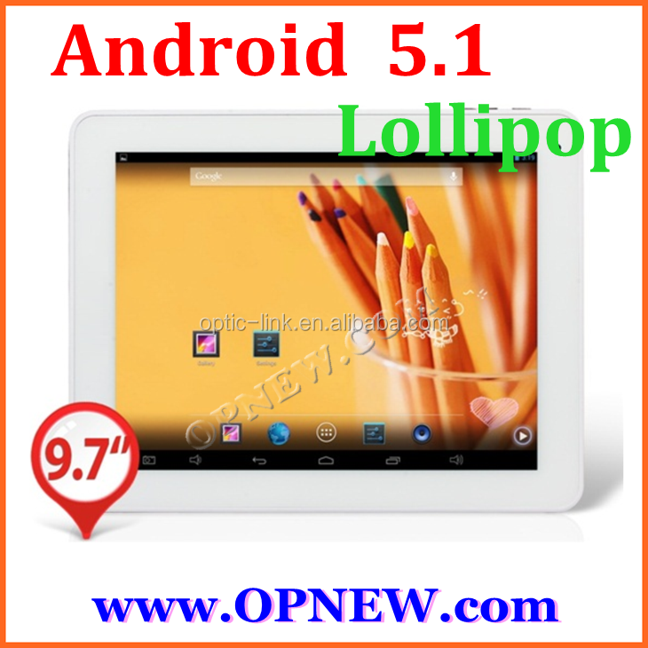 New Hot Android 5.1 Lollipop tablet 9.7 inch Tablet pc IPS Octa Core RK3288 Android5.1 Bluetooth Wifi Tablet PC