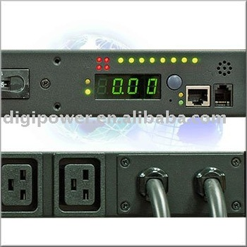 High Density PDU, Dual Input, Remote power control, Individual outlet monitoring 64A 230V