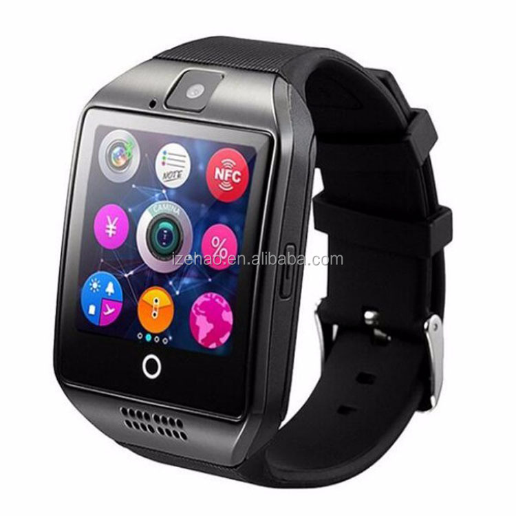 Factory cheapest price MTK6261 bluetooth 1.54inch GSM phone call Q18 smart watch for Android IOS phone