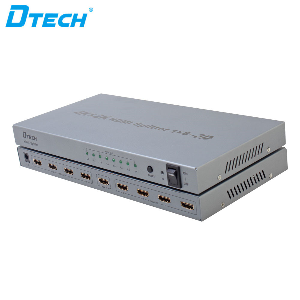 Dtech Good For Heat Radiation 4k Hdmi Video Splitter 1x8 Support ...