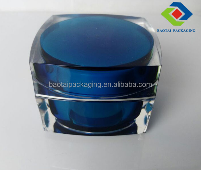50g acrylic square cosmetic container and every color is be excepted