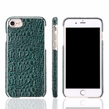 For iPhone 8 Leather Back Case, Electroplated Mobile cell Phone Case for iphone 8