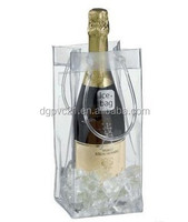 Fluorescent Roseo Cool PVC Wine Bag for Ice Wine Bottle