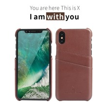 Phone case cover luxury genuine for iphone x leather case