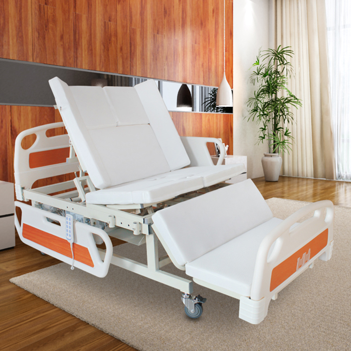 China manufacturer adjustable metal electric hospital nursing bed