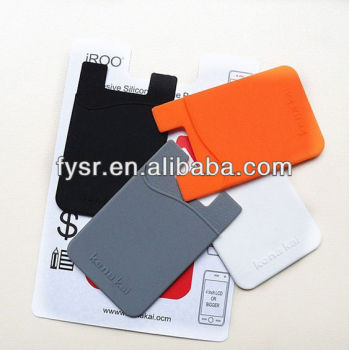 silicone smart wallet silicone phone pouch