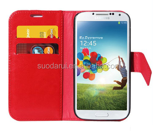 For Samsung Galaxy S4 i9500 Wallet Case High Quality Retro Leather Book Style Pouch Cover