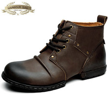 Wholesale Western cowboy men boots brands sales luxury genuine leather cow shoes