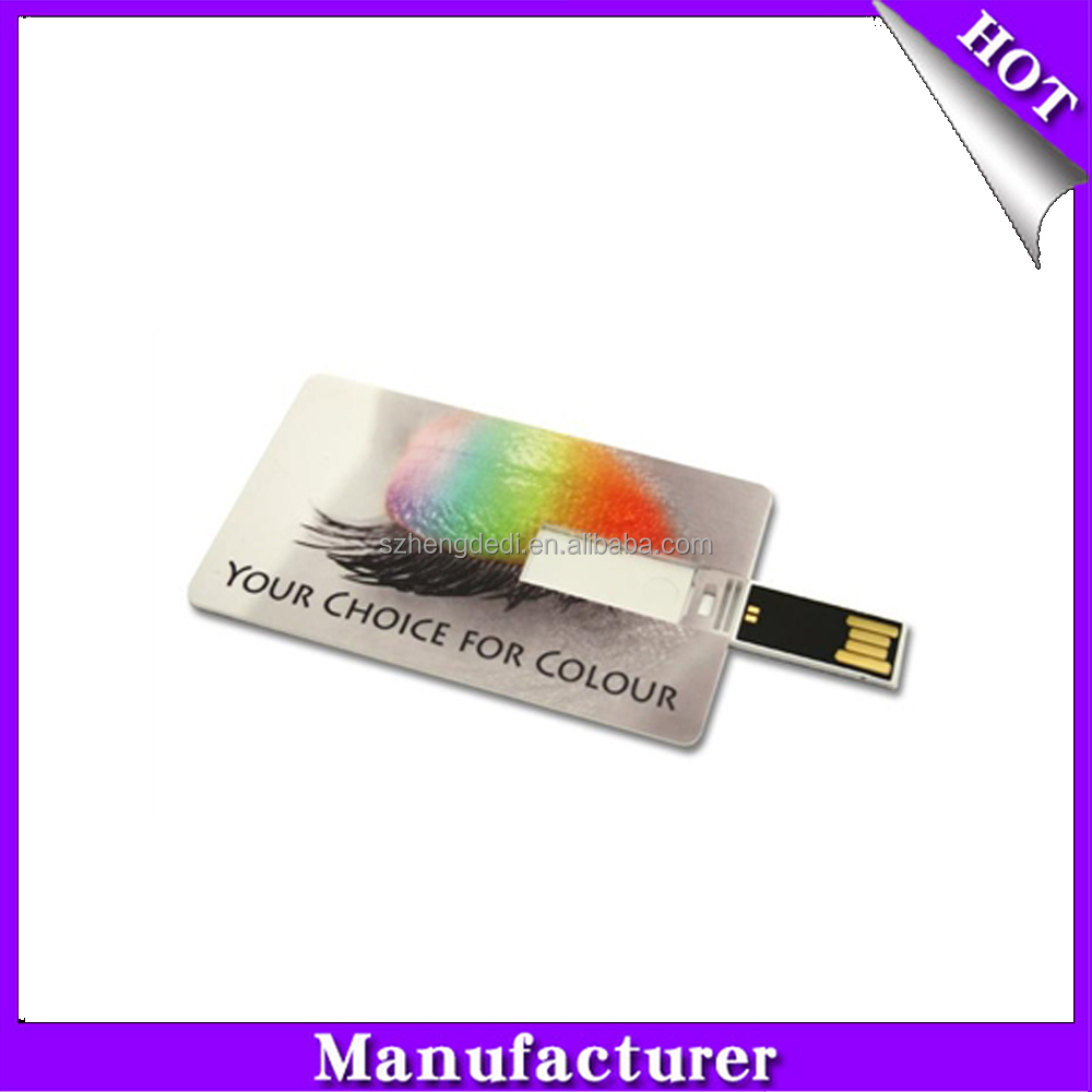 Besting selling credit card usb of 1gb 2gb 4gb 8gb 16gb 32gb 64gb capacity and free shipping