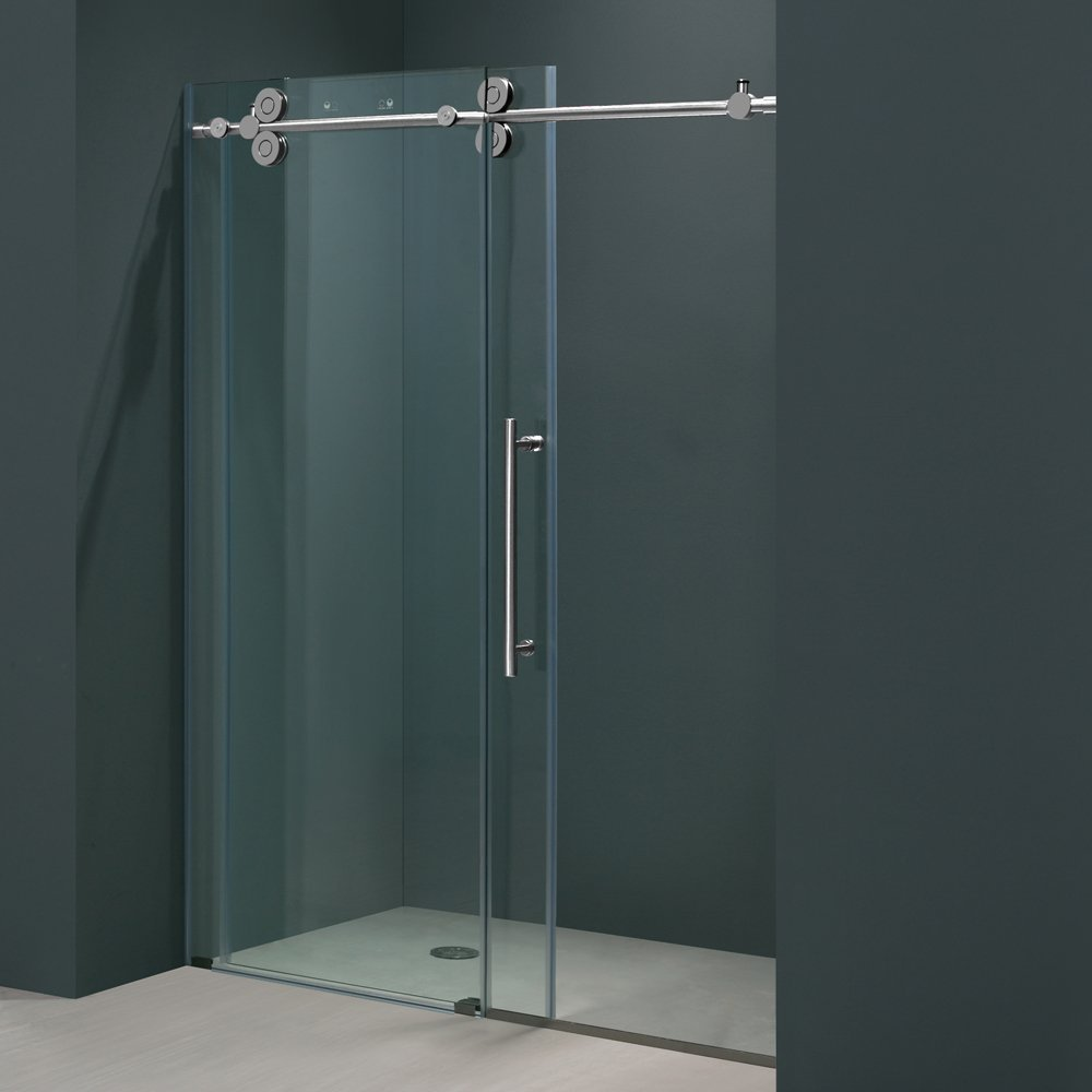 clear tempered glass bathroom shower wall panels
