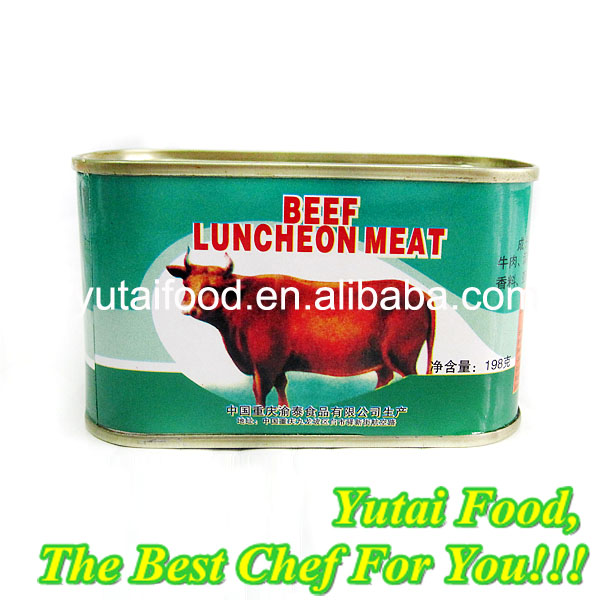 Ready to Eat Beef Luncheon Meat Tin Can for Food Packing