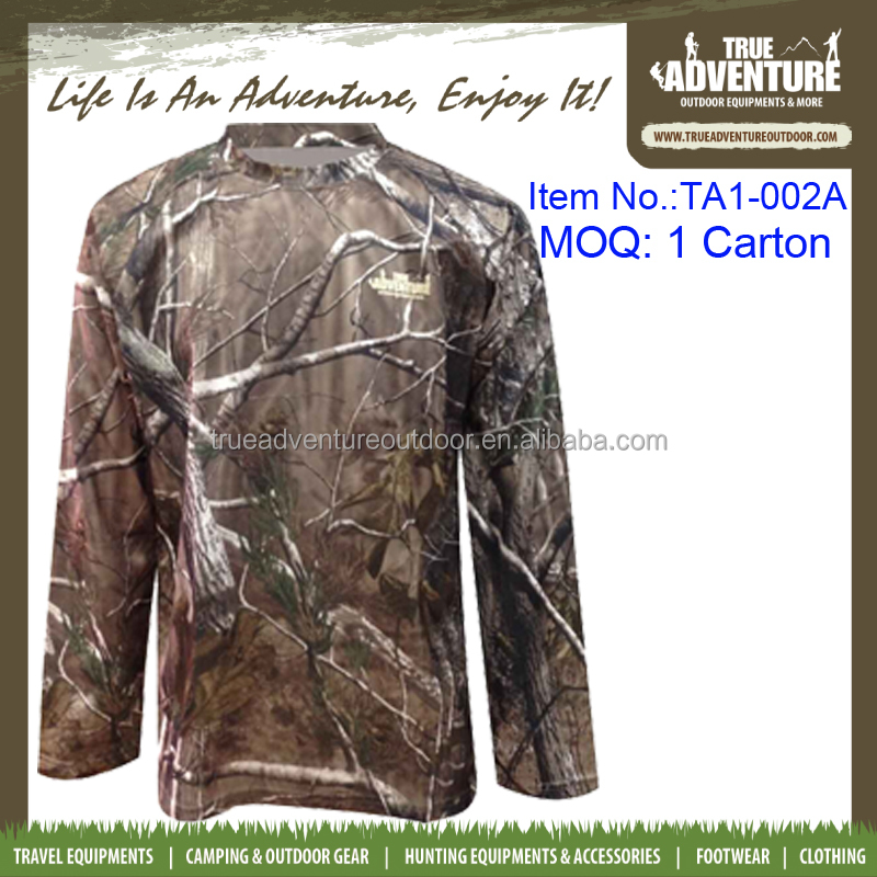 True Adventure TA1-002A Camouflage Fast Dry Camo T-Shirt Woodland Shirts