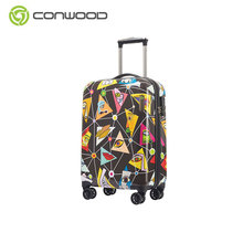 High Quality Suitcase To Printing Abs And Pc Spinning Trolley Luggage Travel Bags Case