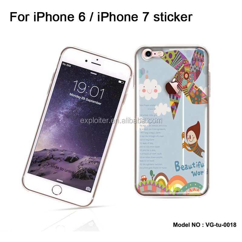 Online shopping decoration cell phone skin for apple iphone 7 plus gel skin