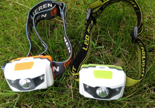 Dry Battery Power Source and Camping Usage dual light source headlamp