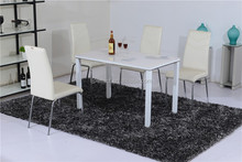fiber glass raw material dining table and chair restaurant furniture