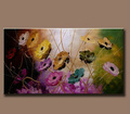 Fabric Flower Oil Painting For Living Room Wall Decoration 55524