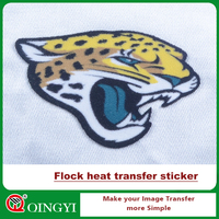 Hot sale good quality flock printing transfer sticker for garment