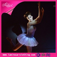 fiber optic clothing luminous led light classical ballet tutu dresses for adults
