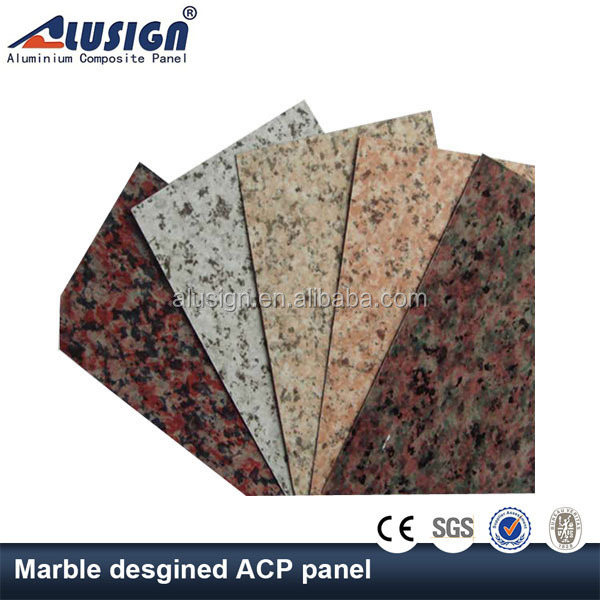 Alusign marble design colorful stone coated metal roofing sheet aluminum composite panel plate