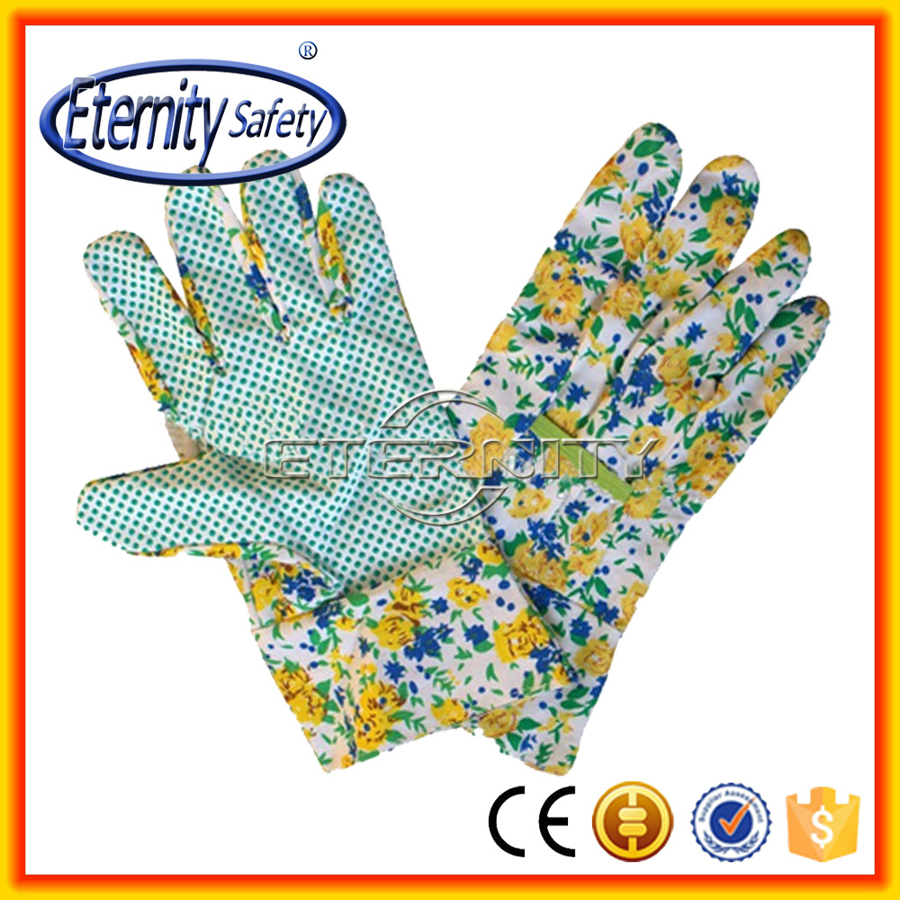 good quality customize size child safety garden dotted glove