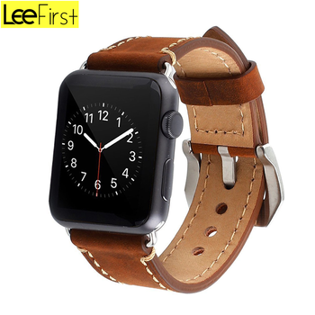 2018 New Crazy Horse Leather Watch Band For Apple Watch Man/Woman