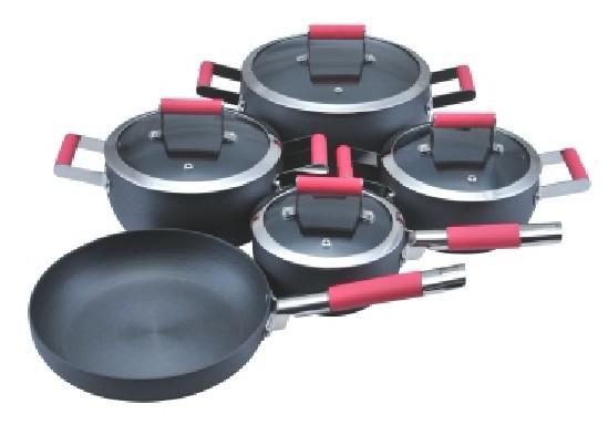 Mango de silicona utensilios de cocina de cocina olla de for Utensilios de cocina de aluminio