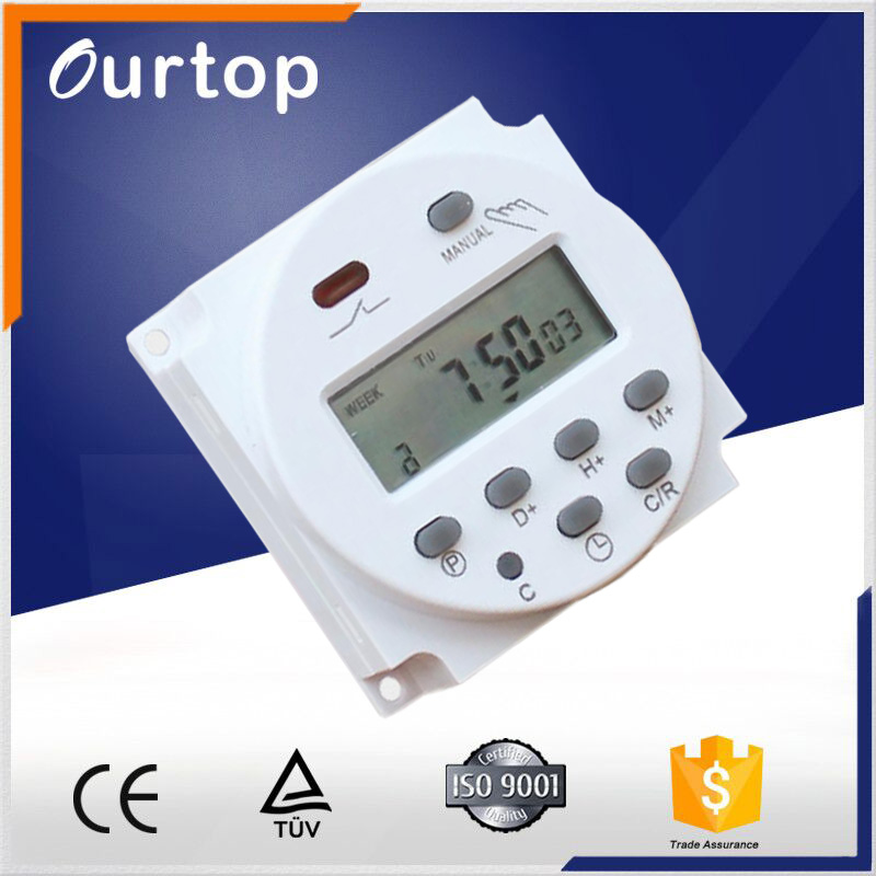 CN101A LCD Digital Power External battery Programmable Timer 12V 24V Time Relay Switch 110V 220V