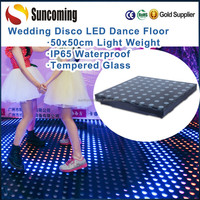 Wedding Disco 50x50cm Portable Stage LED RGB Colorful Acrylic Dance Floor